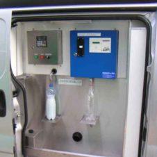 Milch Verkafswagen mit installiertem Milchautomat