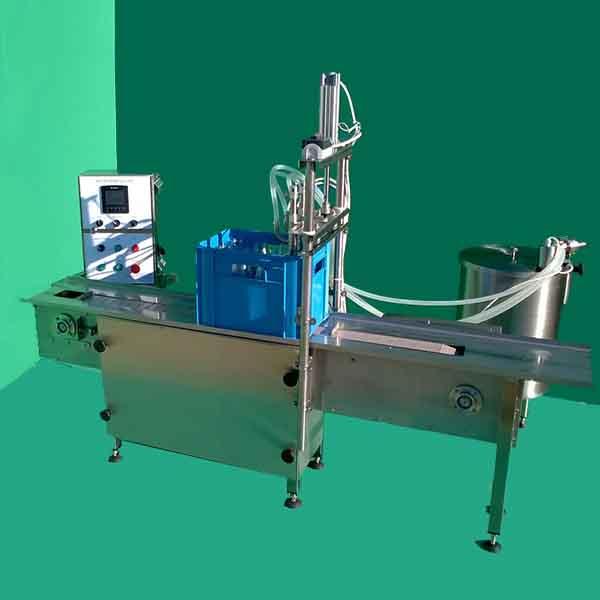 Bottle filling equipment for filling in crates