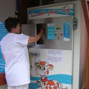 Milk vending machines, milk dispensers