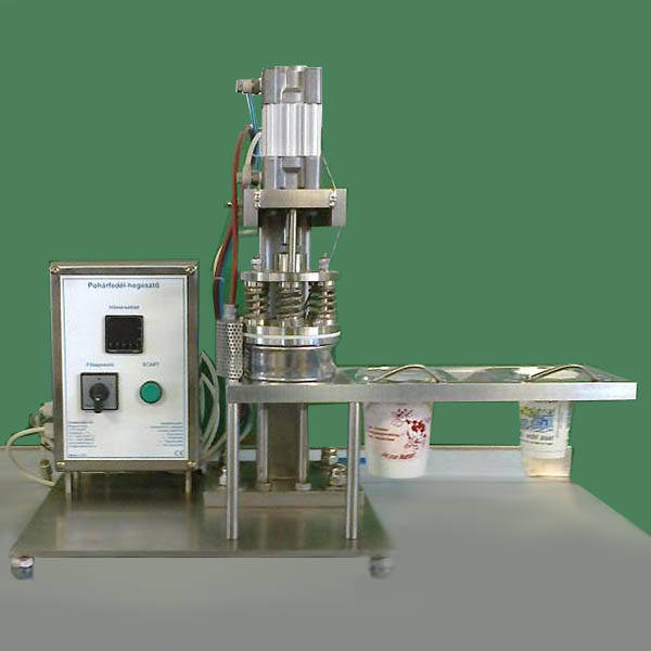 Sealing equipment for plastic cups