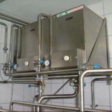 Stapelreinigung für Plattenpasteure