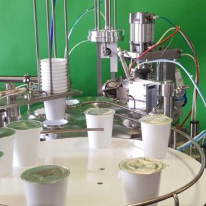 Rotary cup filler