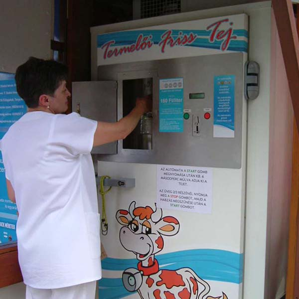 Milk vending machines, milk dispensers